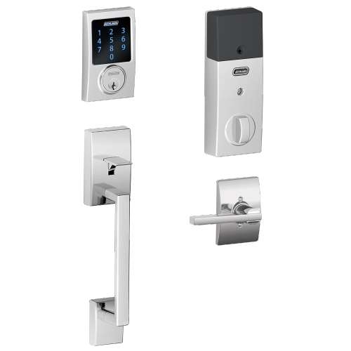 Schlage - Century Style Schlage Connect™ and Handleset with Latitude Lever