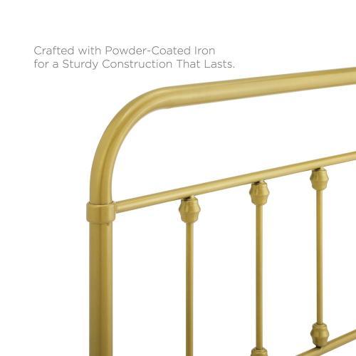 Modway - Sage Queen Metal Headboard in Gold
