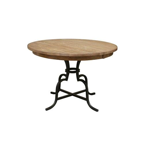 "54"" Round Counter Height Table With Metal Base"