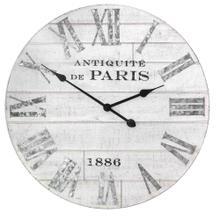 """24"""" X 1.75"""" X 24"""" White Stylish And Enjoyble Wood Clock"""