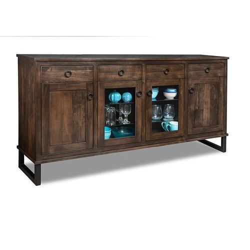 - Cumberland Sideboard w/2 Wood Doors &2/Center Glass Door &4/Dwrs & 2/Wood & Glass Adjust.