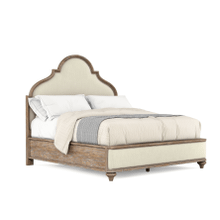 See Details - Architrave Queen Upholstered Panel Bed