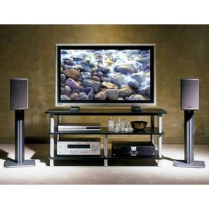 Black Widescreen TV/AV Stand Affordable furniture with open architecture