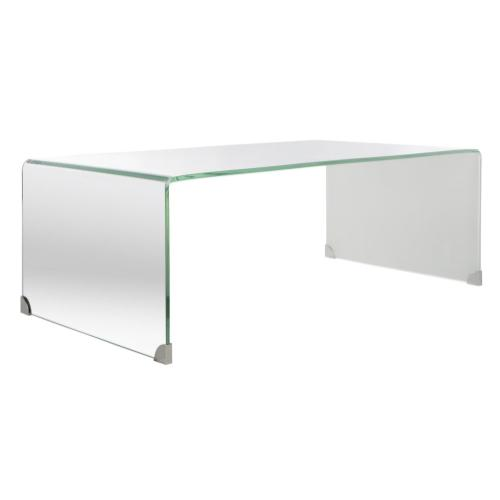 Safavieh - Crysta Ombre Glass Coffee Table - Clear / White
