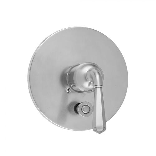 Pewter - Round Plate With Hex Lever Trim For Pressure Balance Valve With Built-in Diverter (J-DIV-PBV)