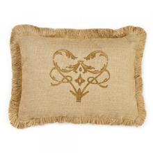 Product Image - Brown Damask Burlap Pillow
