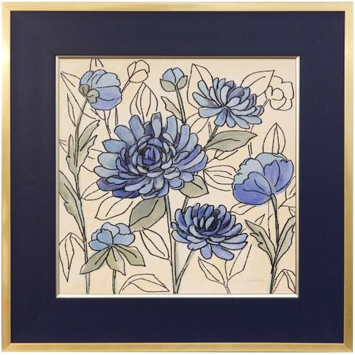 Style Craft - SPRING LACE FLORAL III  29in w X 29in ht  Textured Framed Print  Made in USA