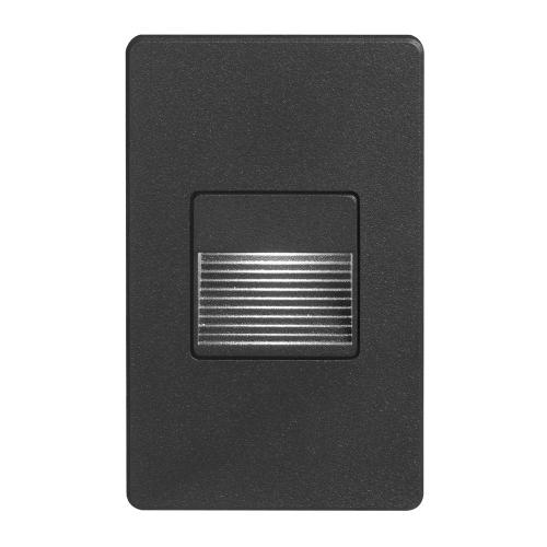 Black Rectangle Indoor/out 3w LED Wall L