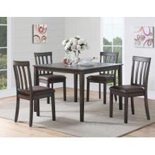 Melanie 5 Pack Set (Dining Table & 4 Side Chairs)