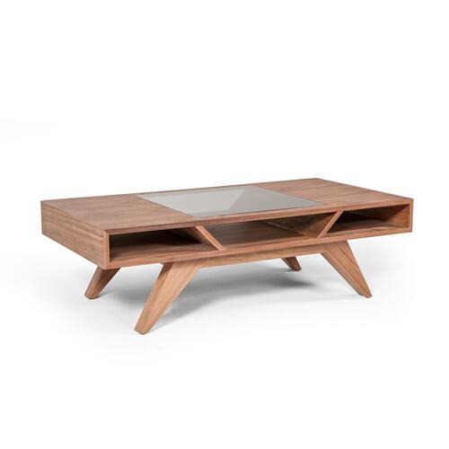 Modrest Dublin Modern Walnut Coffee Table