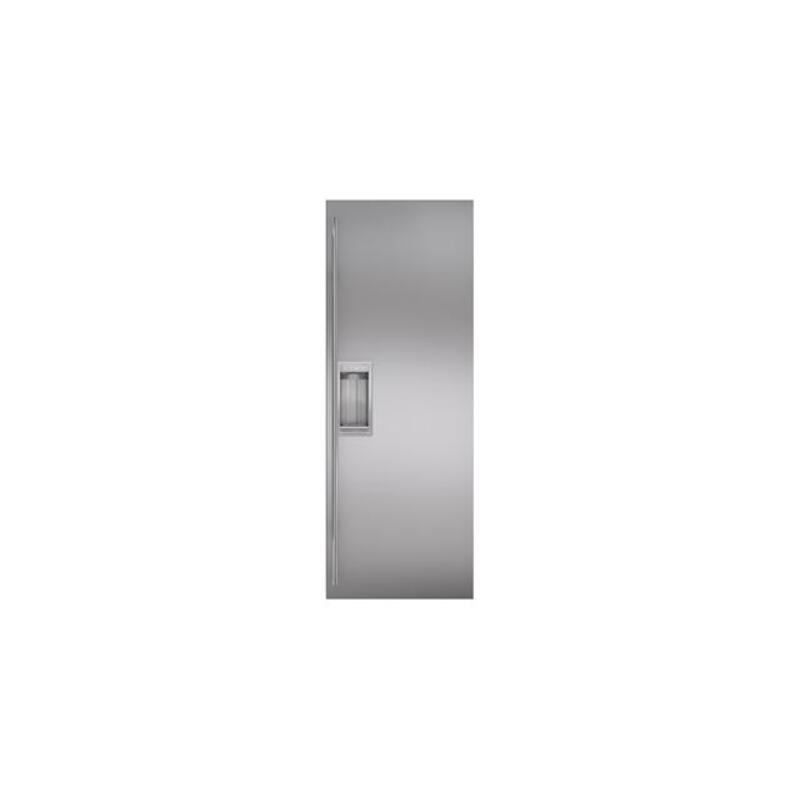"""Classic 42"""" Stainless Steel Flush Inset Refrigerator Door Panel with Tubular Handle"""