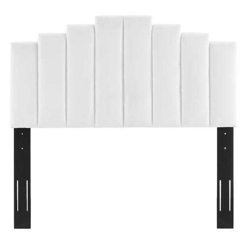 Noelle Performance Velvet Twin Headboard in White