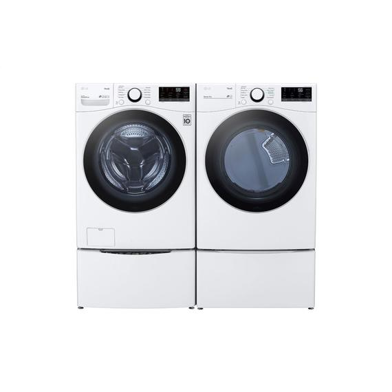 LG - 7.4 cu. ft. Ultra Large Capacity Smart wi-fi Enabled Front Load Electric Dryer with Built-In Intelligence
