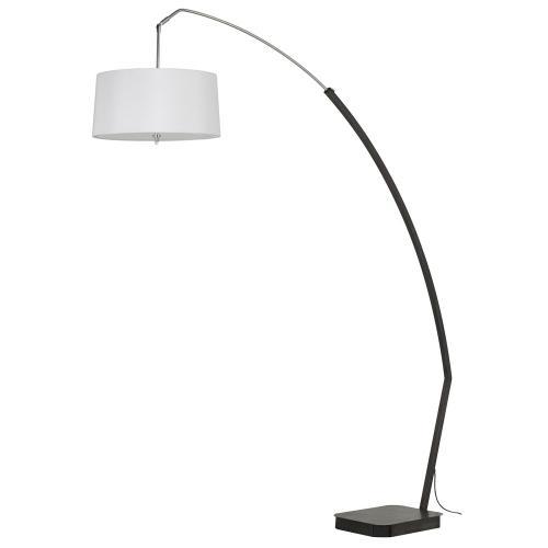 60W X 3 Bahamas Adjust Able Metal Arc Floor Lamp With Swivel Hardback Fabric Shade And Marable Base.