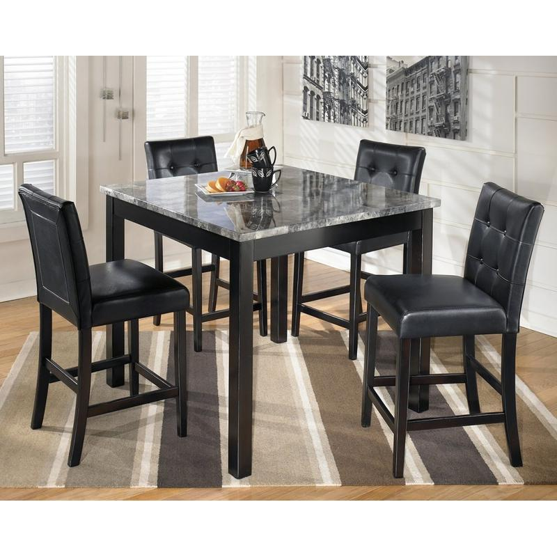View Product - Maysville - Black 5 Piece Counter Height Dining Room Set
