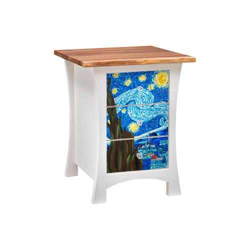 Green Gables Furniture - Starry Night 3 Drawer Nightstand
