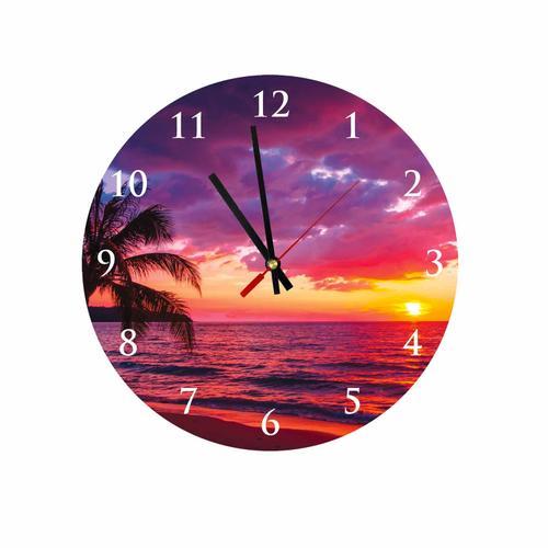 Grako Design - Beautiful Sunset Round Square Acrylic Wall Clock