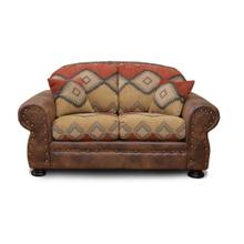 Southwestern Print Arizona Loveseat With 2 Pillows