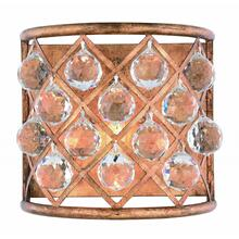 Madison 1 light Golden Iron Wall Sconce Clear Royal Cut Crystal