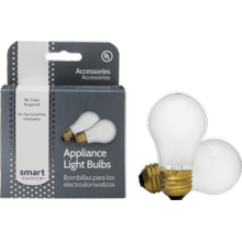 Smart Choice Appliance Light Bulb, 2 Pack