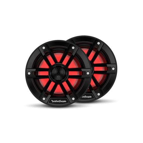 "Rockford Fosgate - M1 6"" Color Optix™ Marine 2-Way Speakers - Black"