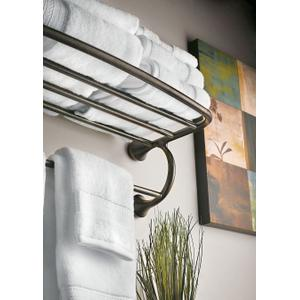 Eva oil rubbed bronze towel shelf