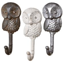 See Details - Snowbird Owl Wall Hook (3 asstd)