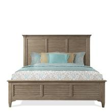 Myra King Louver Bed - Natural Finish