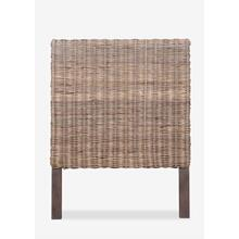 Seascape Drifwood Rattan Headboard-Twin (44x2.5x56)