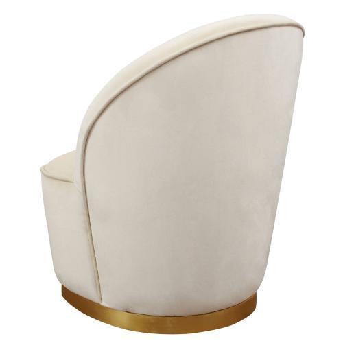 Julia Ivory Velvet Junior Chair