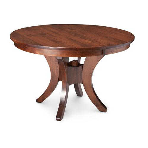 Park Avenue Single Pedestal Table, Solid Top