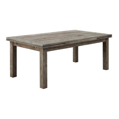 Emerald Home Block Leg Refectory Dining Table W/ 2-leaf D561-10-05