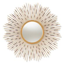 See Details - Baxton Studio Apollonia Modern and Contemporary Gold Finished Sunburst Accent Wall Mirror