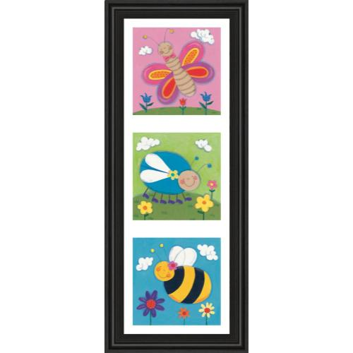 """Classy Art - """"Garden Party Il"""" By Sophie Harding Framed Print Wall Art"""
