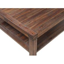 Meadow Coffee Table with Brick Brown Finish
