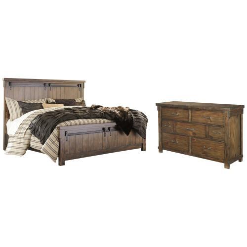 Queen Panel Bed With Dresser