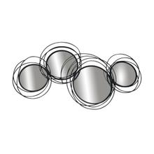 See Details - Looped Black 4 Circle Mirrors, Wb