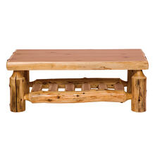 "Open Coffee Table - 20"" x 40"" - Natural Cedar - Armor Finish"
