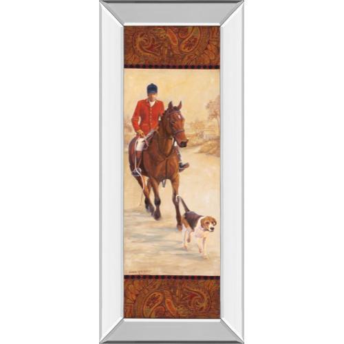"Classy Art - ""On The Hunt I"" By Linda Wacaster Mirror Framed Print Wall Art"