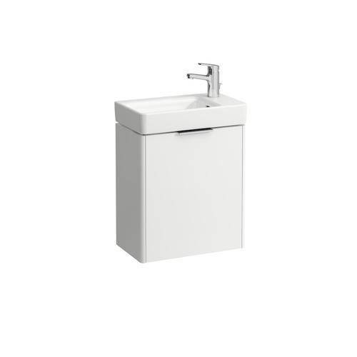 Traffic Grey Vanity unit, 1 door, door hinge right, matching small washbasin 815954