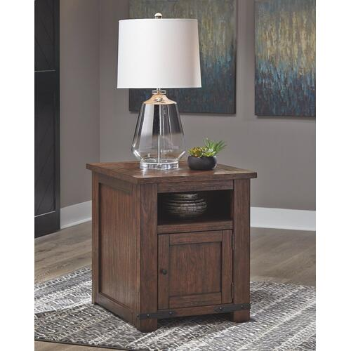 Budmore End Table With Usb Ports & Outlets