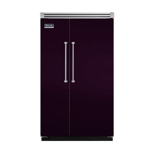"Viking - Plum 48"" Quiet Cool™ Side-by-Side Refrigerator/Freezer - VISB Tru-Flush™ (48"" wide)"