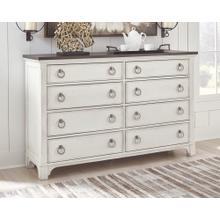Nashbryn Dresser White/Brown
