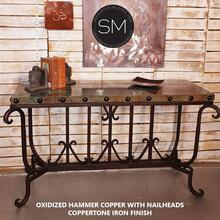 Hammer Copper Large Console