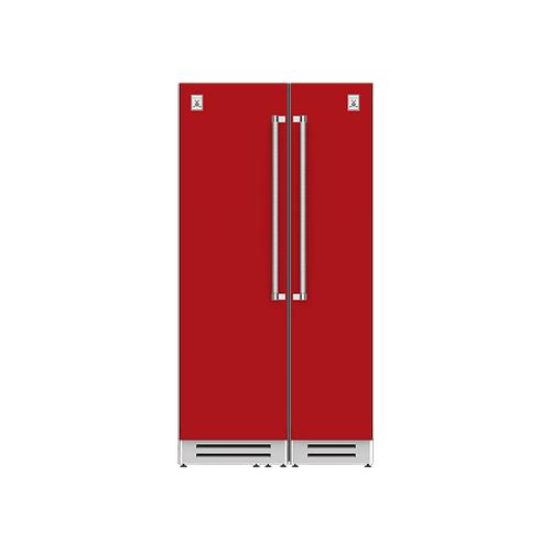 "Hestan - 42"" Column Refrigerator (L) and Freezer ® Ensemble Refrigeration Suite - Matador"