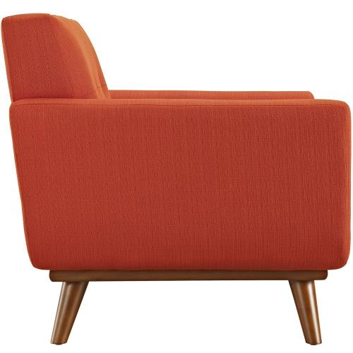 Engage 2 Piece Armchair and Ottoman in Atomic Red