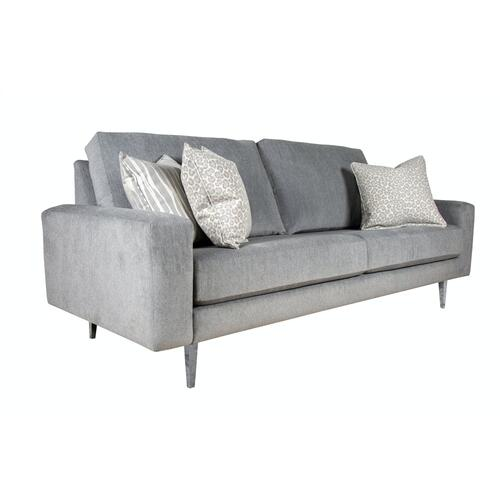 "Contemparary style wide track arm sofa. Shown with 8"" Pyramid legs. Also available with 8"" Tapered round, 8"" Plinth base, or 8"" Square tube legs."