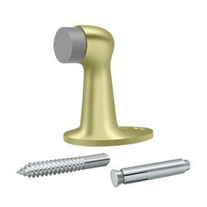 """Floor Door Bumper 2-7/8"""", Solid Brass - Unlacquered Brass"""