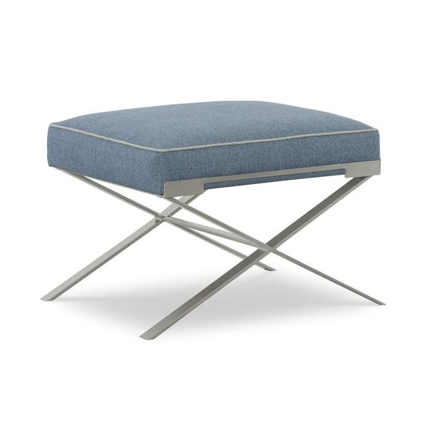 See Details - Metal Base Small Ottoman