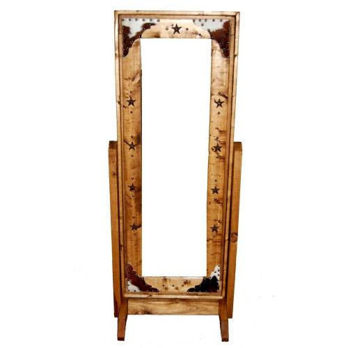 Cowhide Cheval Mirror